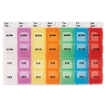 Medium, Color Coded Weekly Med Planner, 4-Compartment | CMP-128